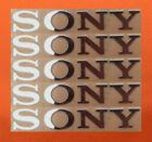 5 pcs Sticker for Sony Silver Logo TV PlayStation Game Laptop Desktop 60mm x10mm