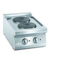 Cucina piano cottura elettrico banco 2 piastre cm 40x70x25 RS3619
