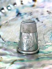 Dutch Thimble Silver Commemorative Queen Juliana & Prince Bernhard 50th Wedding