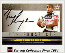 2011 Select NRL Strike Top Prospect Signature Card TP9 Ray Thompson (Cowboys)