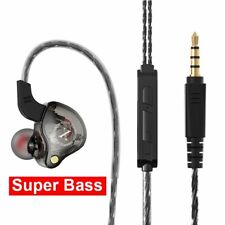 Sports Wired Earpiece In-Ear Earbuds HiFi Stereo 3.5mm Headphone For iOS Android