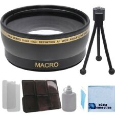 30mm 0.43x Wide Angle Lens + Access. Kit for Sony HDR-CX360V CX580V PJ30E