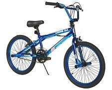 "20"" Boys BMX Bike Steel Frame 2.0 Blue Krome Single Speed Front Caliper Brake"