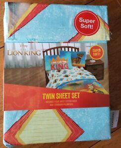 Disney Lion King Twin Sheet Set polyester Kids Bedding Simba NEW in package Blue
