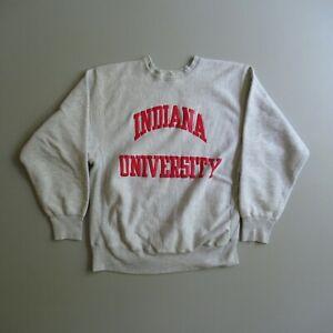 Vintage Indiana University Hoosiers Sweatshirt Champion Reverse Weave Warmup