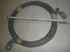 20 m Sicherungs oder Abspannseil Stahlseil mit Verbindungs - Kauschen Seil