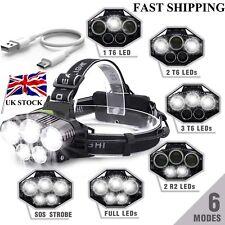 90000LM 5X T6 LED Headlamp Rechargeable Headlight Light Flashlight Head Torch f