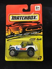 1983 Matchbox MB37 Jeep 4x4 White Die Cast