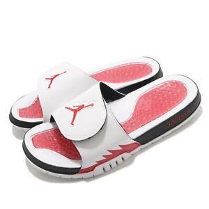 Nike Jordan Hydro V Retro Slide 5 White Fire Red Black Men Sandals 555501-101