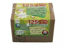 Pack de 125 cartons de loto grilles cartons rigides vert ou jaune 310141