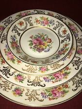 Johnson Bros plates bowls PAREEK Marlborough Victorian pink cabbage rose floral