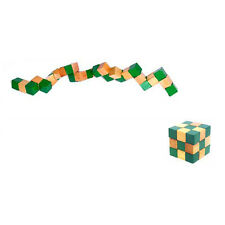 Cube Snake Puzzle Magic 3D Wooden Toy Game Kids Baby Children Twist Gift HY