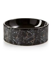 Lacourte Pet Black Marble and Embossed Bowl