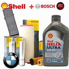 Kit tagliando olio SHELL HELIX 5W30 6LT +4 FILTRI BOSCH BMW 318D 320D 85 110 KW