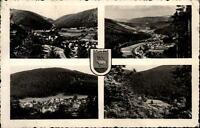 Sitzendorf Thüringer Wald Mehrbildkarte ~1960 DDR gelaufen Panorama Ansichten