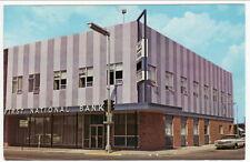 Detroit Lakes MN First National Bank postcard