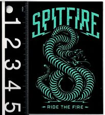 SPITFIRE STICKER Spitfire Rare Skateboard Decal 5.25 in x 3.5 in Ride The Fire