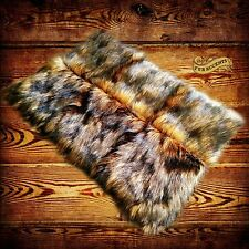 Fur Accents Faux Fur Area Rug / Medium Wolf /Wolverine Fur / Rectangle / 3' x 5'