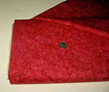 Tonga Batik quilt-craft fabric DOTTED PINWHEELS red 2 yds (b-7843) Hand Dyed!