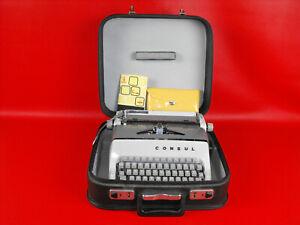DDR Schreibmaschine Kofferschreibmaschine Reiseschreibmaschine CONSUL