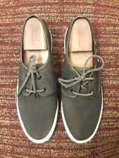 J&M 1850 mens oxford casual sneakers shoes size 10.5 dark brown.