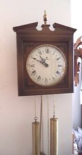 Vintage Schmeckenbecher Wall Clock West Germany 8 Day 1940's Working - Complete!