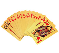 1PCS 24K GOLD PLATED PLAYING CARDS FULL POKER DECK 99.9% PURE PERFECT GIFT XMAS