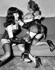 8x10 Print Bettie Page Sexy Lingerie Garter Hi Heels 1955 #BT54
