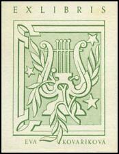 Baruch Josef 1938 Exlibris P1 Bookplate Music 14