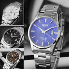 SWIDU Montre-bracelet Analogue Homme acier inoxydable Quartz Sport Watch Date
