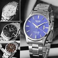 SWIDU Montre-bracelet Analogue Homme acier inoxydable Quartz Sport Watch Date
