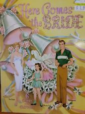 Vintage Uncut 1952 Here Comes The Bride Paper Dolls~#1 Reproduction~