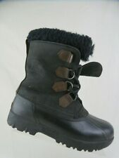 SOREL Black Sz 8 W Wide Women Winter Snow Boots