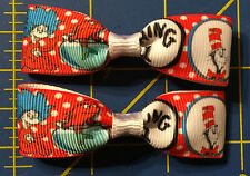 Mini Dr. Seuss Hair Bows with Alligator Clips Red