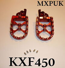 KXF450 2011 FOOTPEGS IN RED MXPUK EXTRA WIDE FACTORY FOOT PEGS 2010 KXF450 (567)