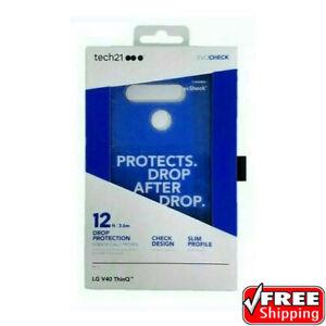 NEW Tech21 Evo Check Case LG V40 ThinQ Slim Heavy Duty Protective Midnight Blue