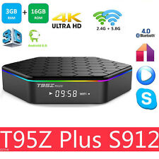 T95Z Plus TV Box S912 3GB+16GB Octa Core Android 6.0 2.4/5Ghz Dual WIFI HK