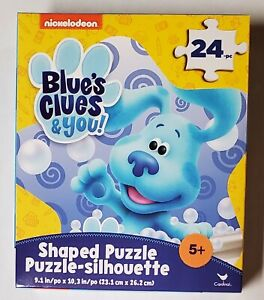 Nickelodeon Blue's Clues 24 Piece Star Shaped Jigsaw Puzzle New!