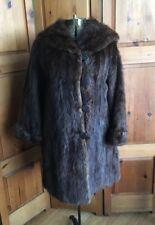 Vintage Algoma Furs Limited Muskrat Dark Brown Real Fur Coat Toronto
