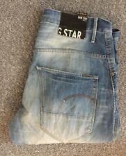 MENS G-STAR GSTAR RAW ARC 3D LOOSE TAPERED FIT JEANS W36 L32 BLUE STONEWASH
