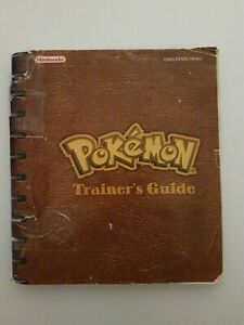 POKEMON RED & BLUE TRAINERS GUIDE GAMEBOY MANUAL OFFICIAL NINTENDO