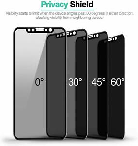 1-PC For iPhone X/XS/XR Tempered Glass Privacy Screen Protector Full Cover Lot