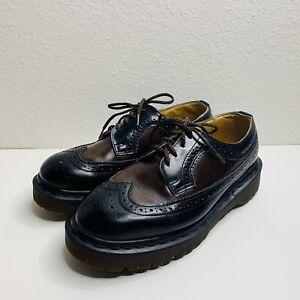 Dr. Doc Martens 3989 Brogue Wingtip Platform Shoes Womens UK 5 US 7 Made England