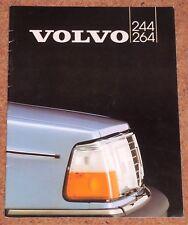 1982 VOLVO 244 264 Sales Brochure - GLT GLE GL DL