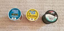 3 spools of fishing line. They are all new in unopened spools.