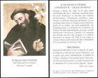 """HOLY CARD SANTINO - B. FRANCESCO PATRIZI, """"GIGLIO DI SIENA"""" dei servi di Maria"""