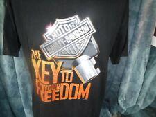 Harley Davidson Skagit Burlington Washington T Shirt Key To Your Freedom L Black