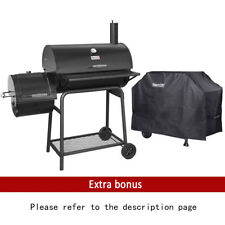 """Royal Gourmet 30"""" BBQ Charcoal Grill Offset Smoker CC1830F with Cover Work Space"""