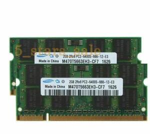 Laptop Samsung PC2-6400 2GB DDR2-800 800Mhz For 200pin Sodimm OEM Memory 200PIN