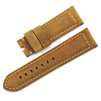 22mm 24mm 26mm Genuine Assolumates Leather Watch Band Strap For Panerai Luminor